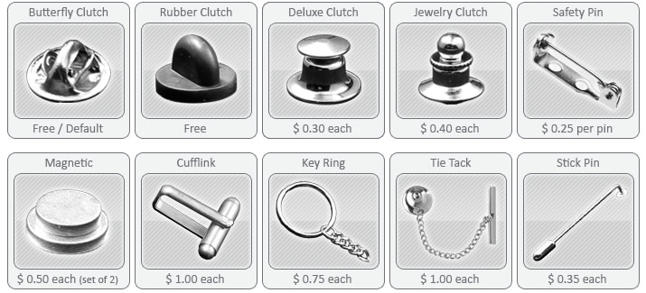 Lapel Pin Attachment Options